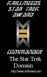 Krillmeeds Star Trek Award: Commander